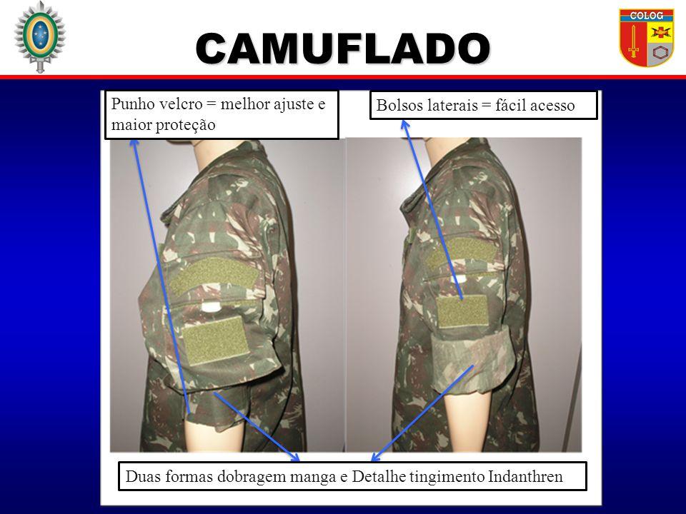 CAMUFLADO Punho velcro = melhor ajuste e maior proteção