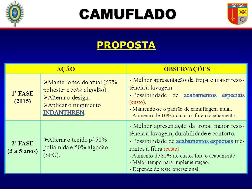 CAMUFLADO PROPOSTA AÇÃO OBSERVAÇÕES 1ª FASE (2015)