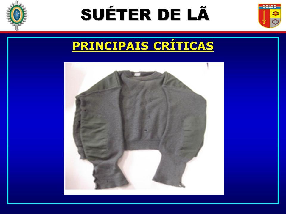SUÉTER DE LÃ PRINCIPAIS CRÍTICAS