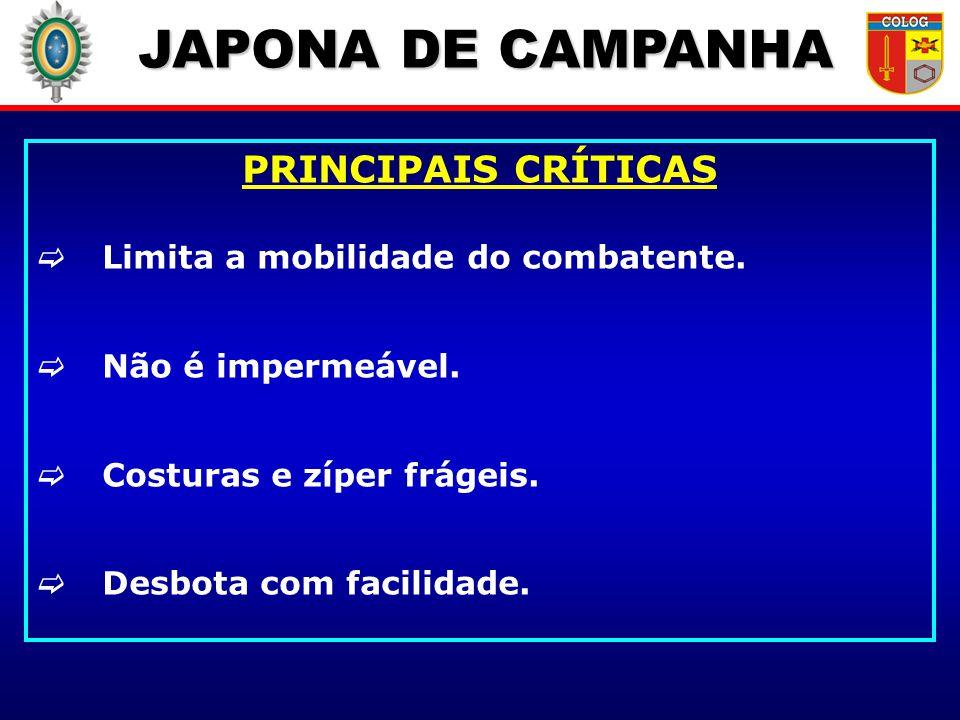 JAPONA DE CAMPANHA PRINCIPAIS CRÍTICAS