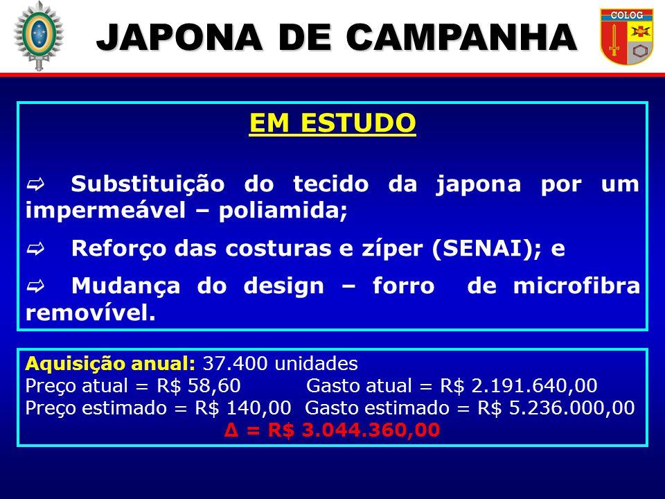 JAPONA DE CAMPANHA EM ESTUDO