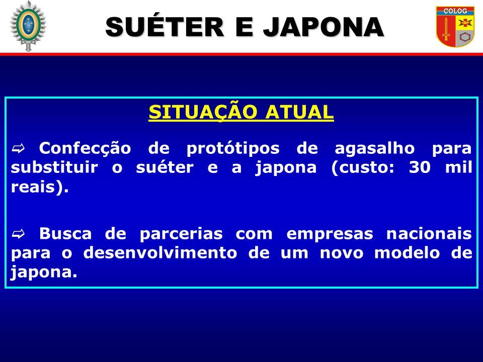 SUÉTER E JAPONA SITUAÇÃO ATUAL