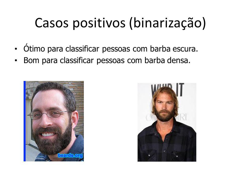 Casos positivos (binarização)