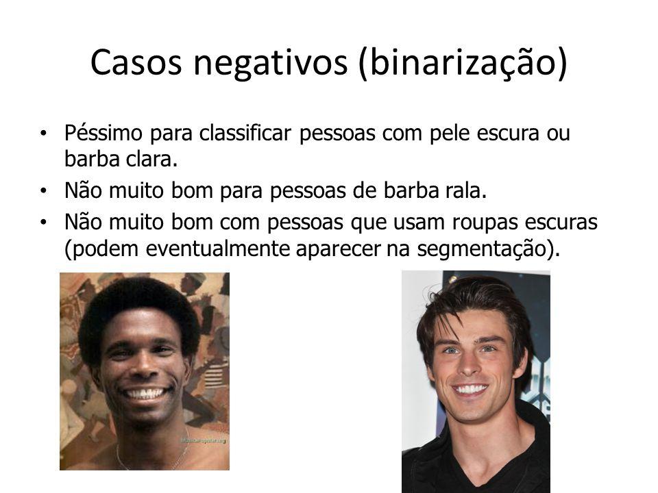 Casos negativos (binarização)