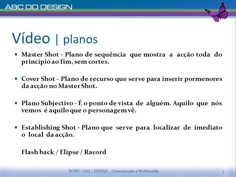 Vídeo | planos Master Shot - Plano de sequência que mostra a acção toda do princípio ao fim, sem cortes.