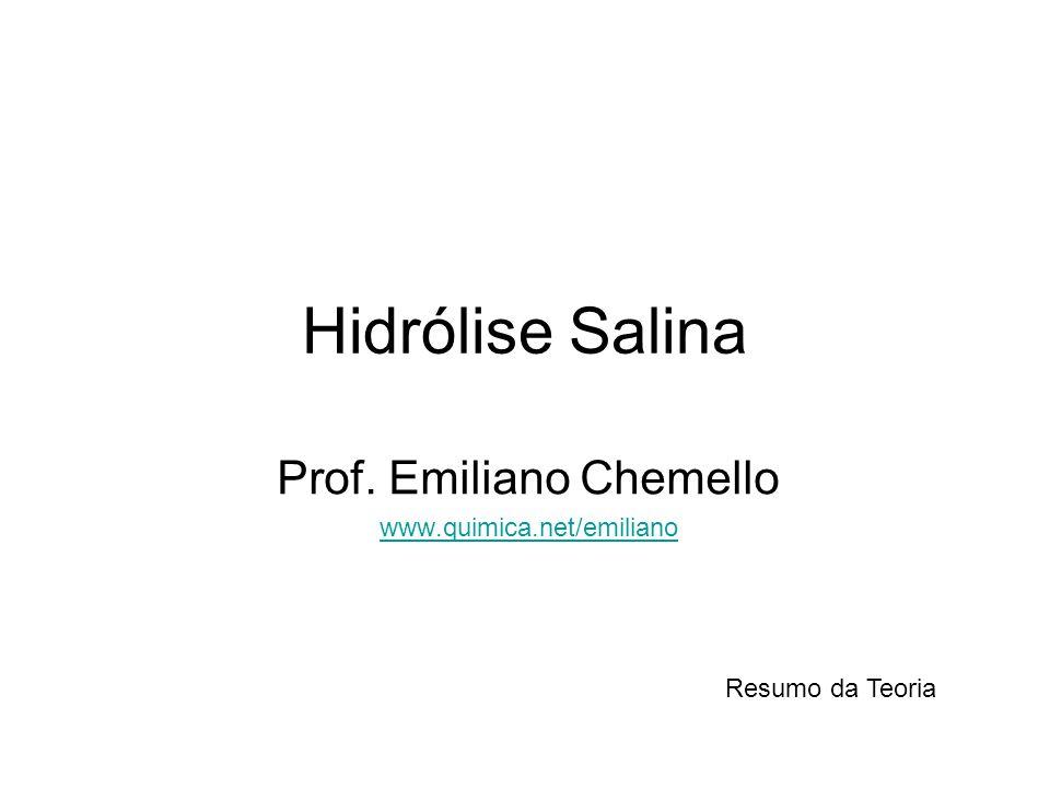 Prof. Emiliano Chemello www.quimica.net/emiliano
