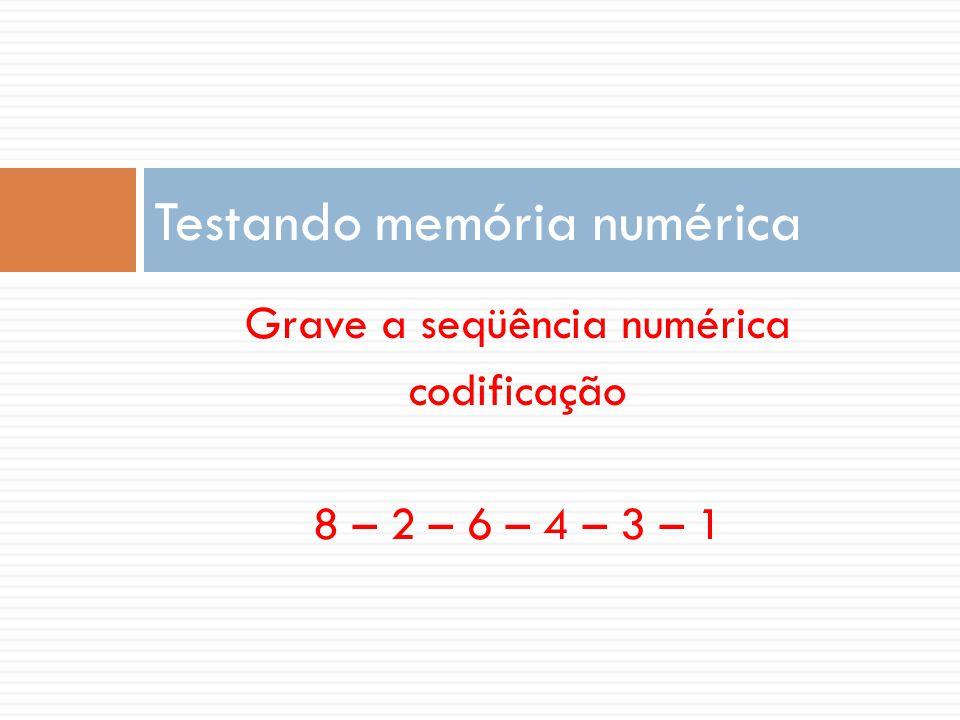 Testando memória numérica