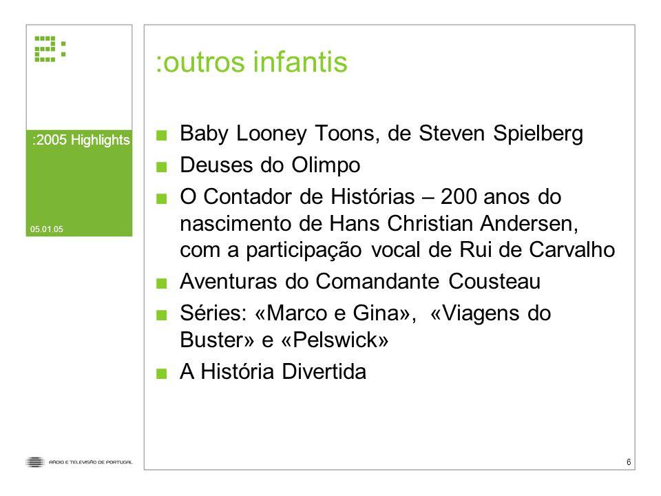 outros infantis Baby Looney Toons, de Steven Spielberg
