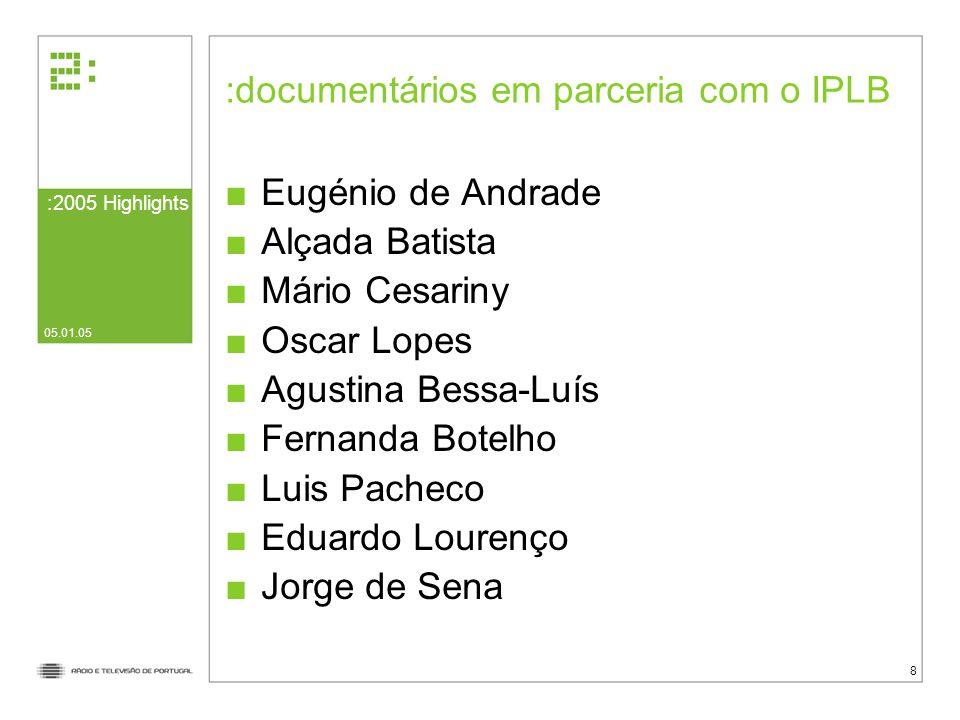documentários em parceria com o IPLB
