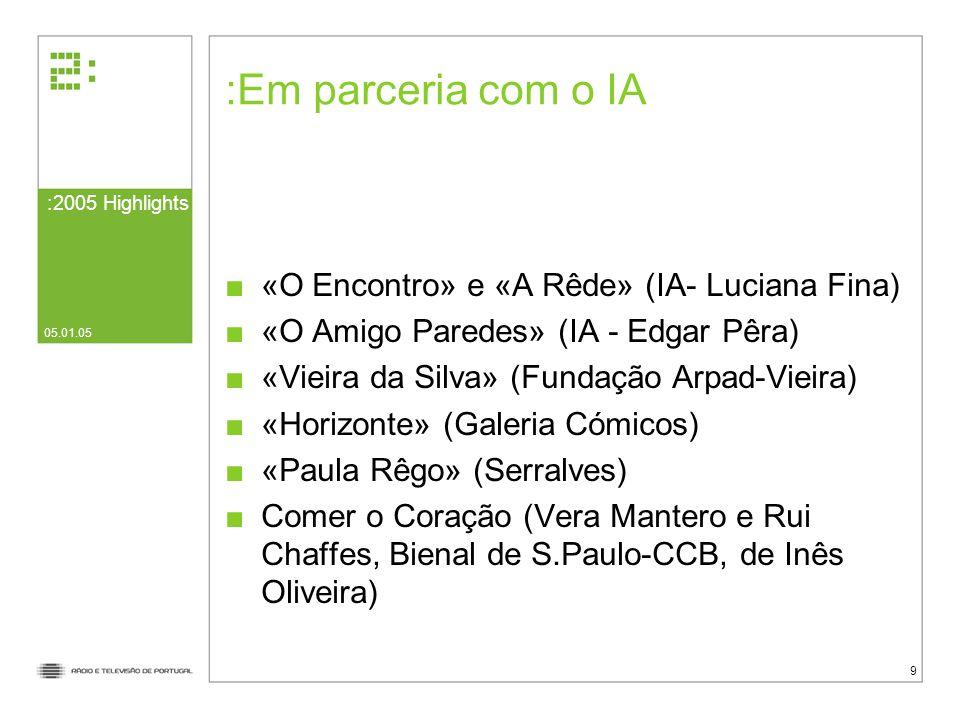 Em parceria com o IA «O Encontro» e «A Rêde» (IA- Luciana Fina)
