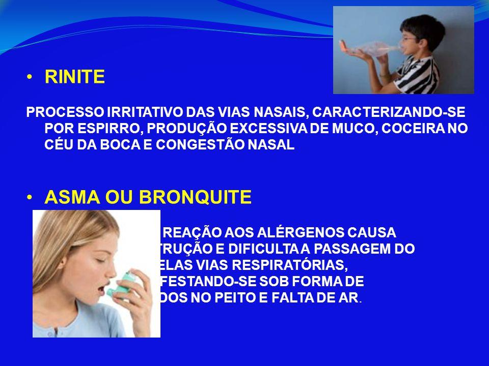 RINITE ASMA OU BRONQUITE