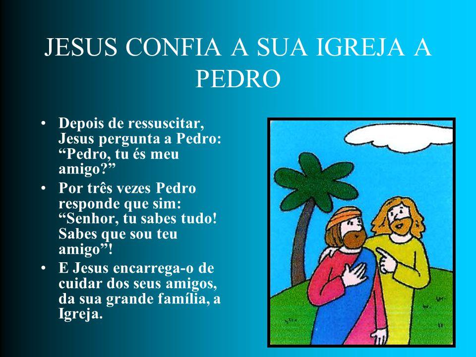 JESUS CONFIA A SUA IGREJA A PEDRO