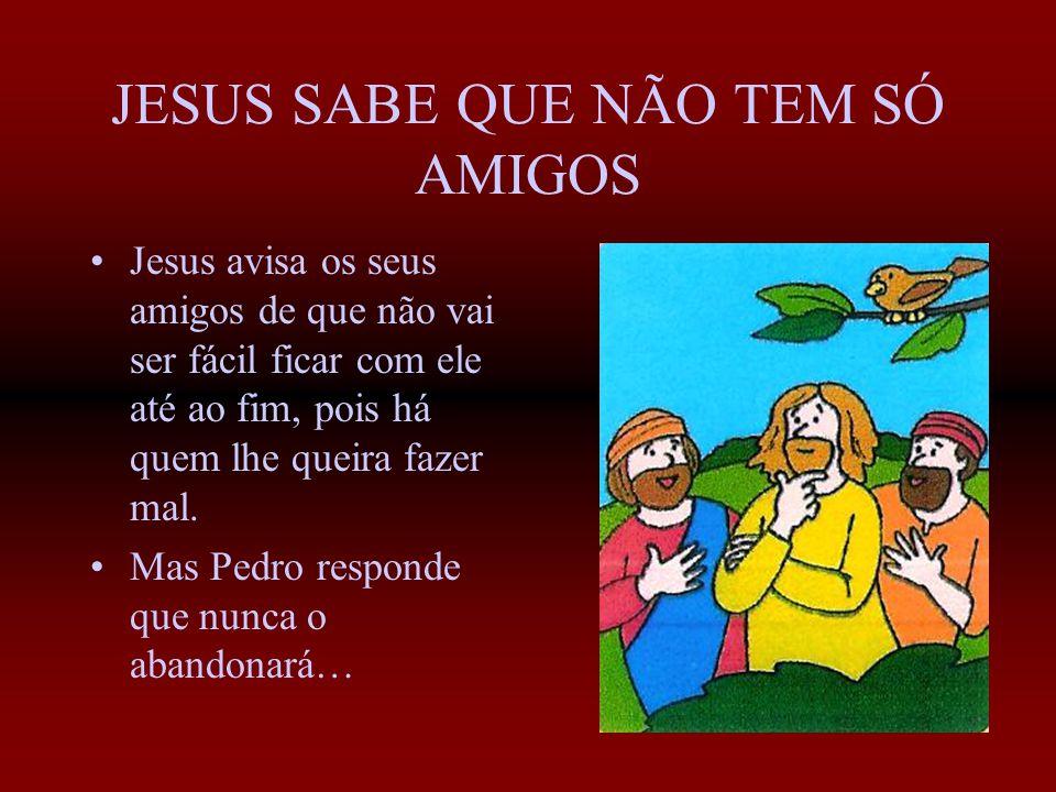JESUS SABE QUE NÃO TEM SÓ AMIGOS