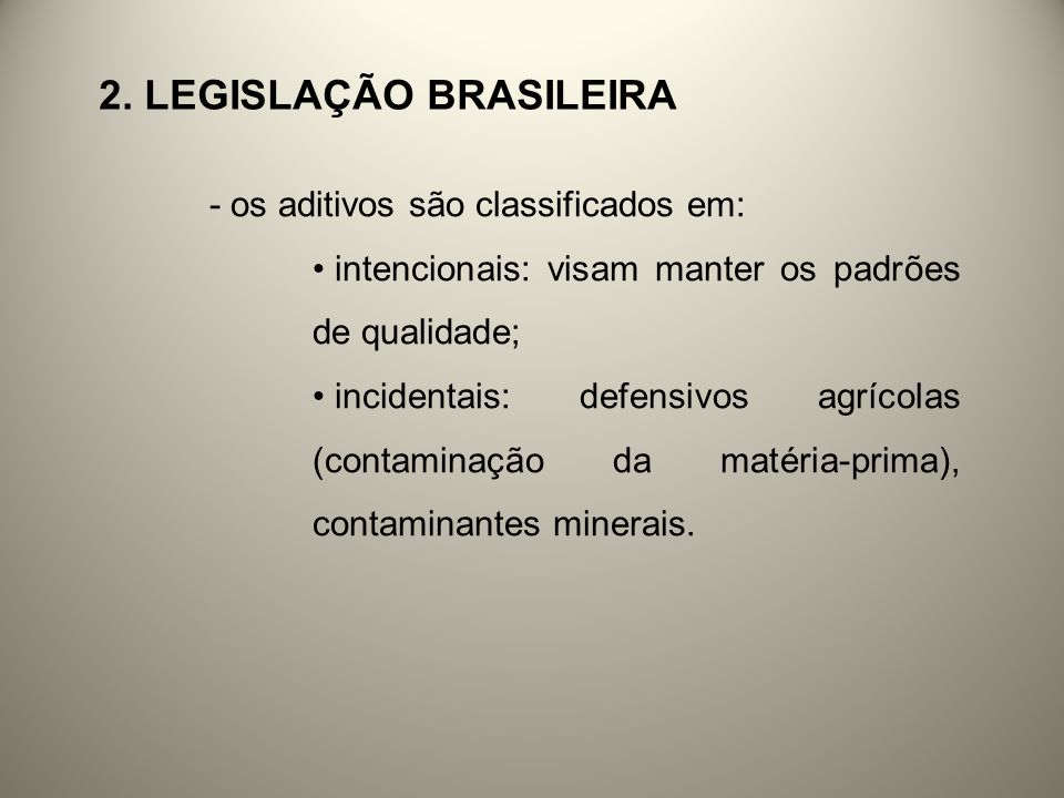 2. LEGISLAÇÃO BRASILEIRA