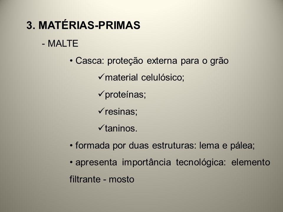 3. Matérias-primas MALTE Casca: proteção externa para o grão