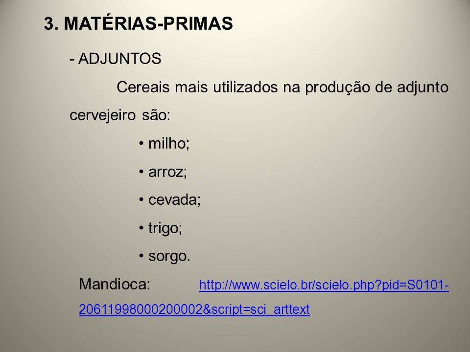 3. Matérias-primas ADJUNTOS