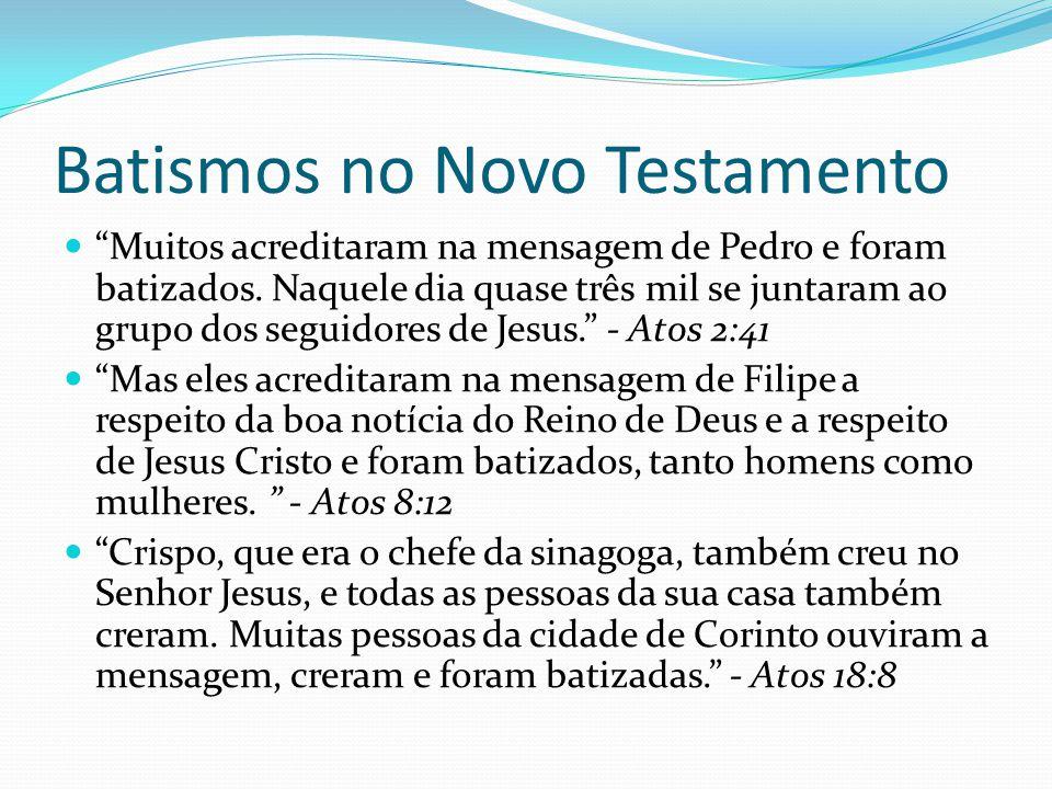 Batismos no Novo Testamento