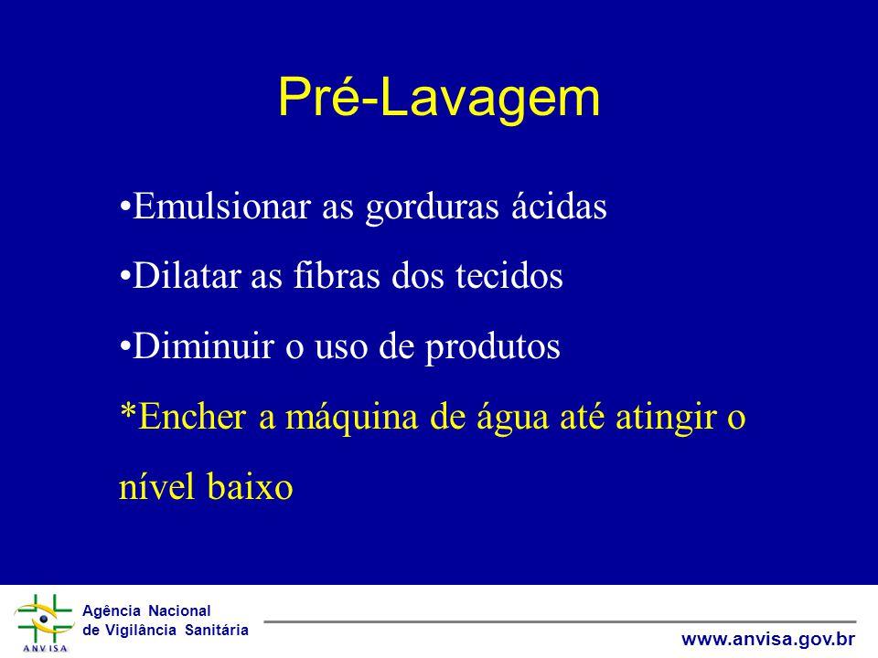 Pré-Lavagem Emulsionar as gorduras ácidas