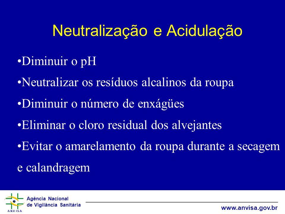 Neutralização e Acidulação