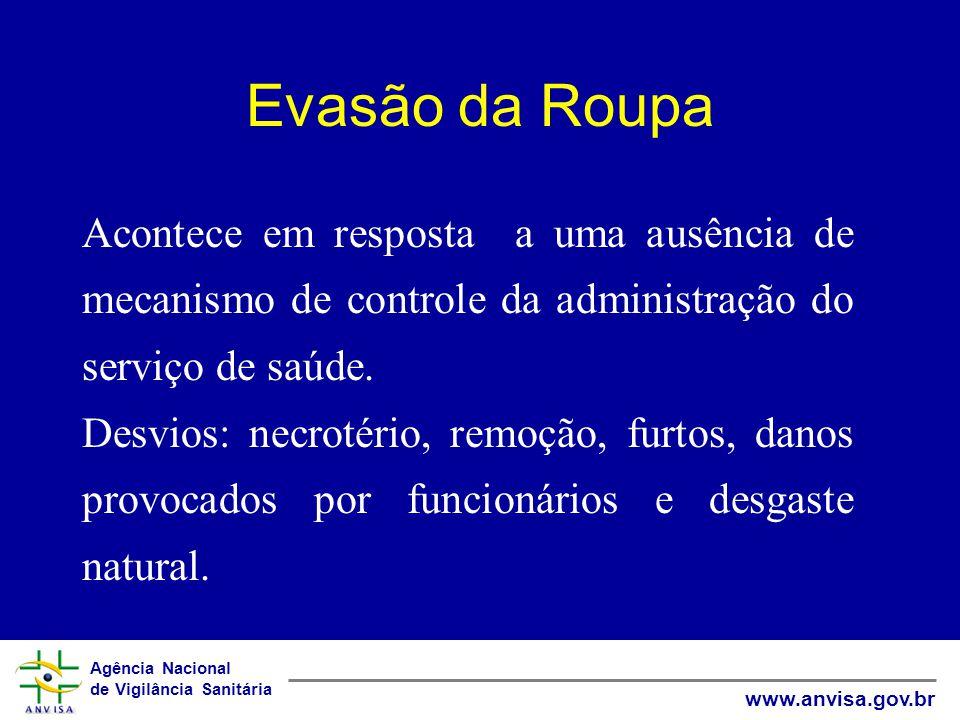 Evasão da Roupa Acontece em resposta a uma ausência de mecanismo de controle da administração do serviço de saúde.