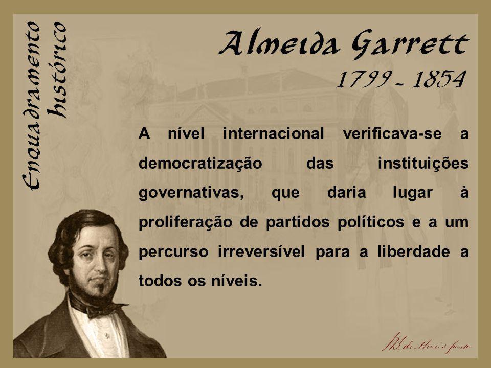Almeida Garrett Enquadramento Histórico 1799 - 1854