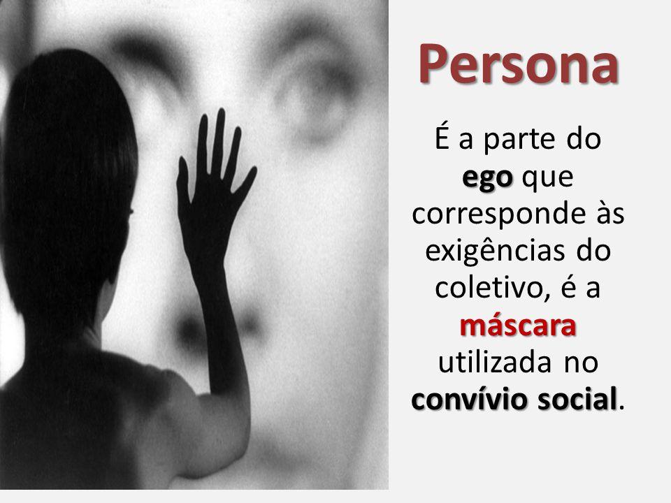 Persona É a parte do ego que corresponde às exigências do coletivo, é a máscara utilizada no convívio social.