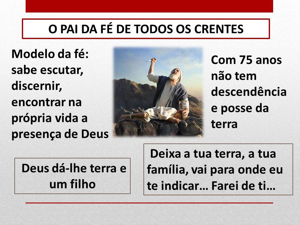 O PAI DA FÉ DE TODOS OS CRENTES
