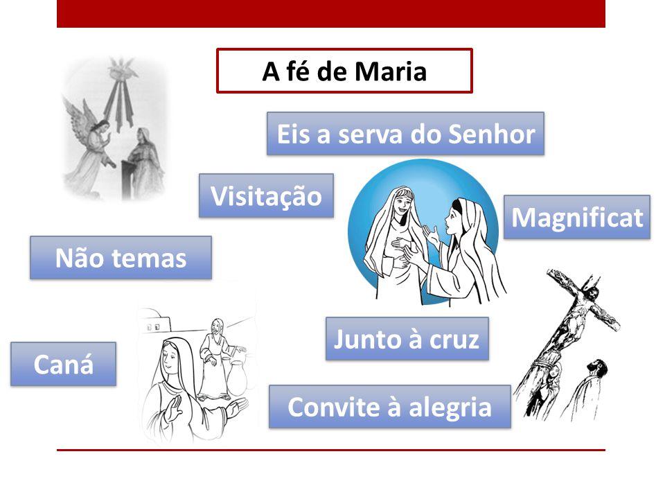 A fé de Maria Eis a serva do Senhor. Visitação. Magnificat.