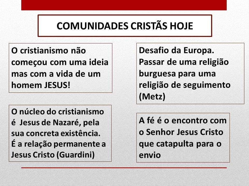COMUNIDADES CRISTÃS HOJE
