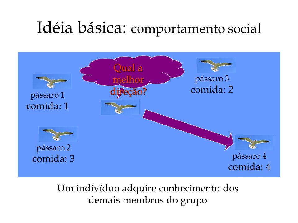 Idéia básica: comportamento social
