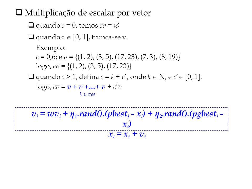 vi = wvi + η1.rand().(pbesti - xi) + η2.rand().(pgbesti - xi)