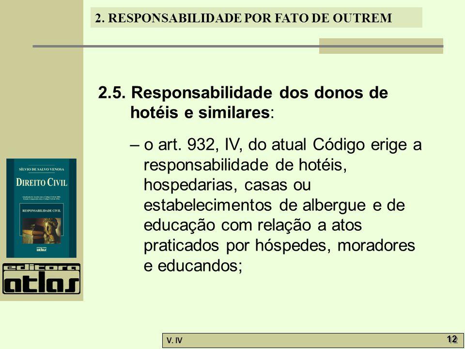 2.5. Responsabilidade dos donos de hotéis e similares: