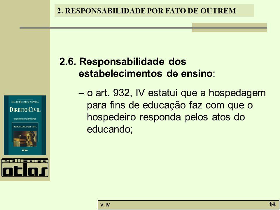 2.6. Responsabilidade dos estabelecimentos de ensino: