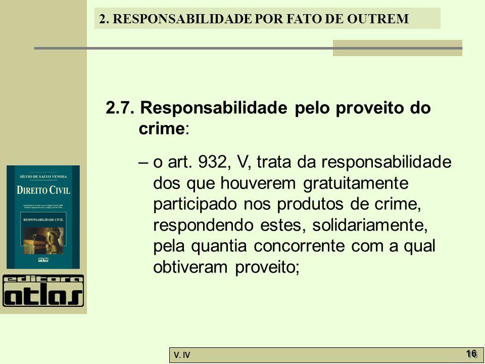 2.7. Responsabilidade pelo proveito do crime: