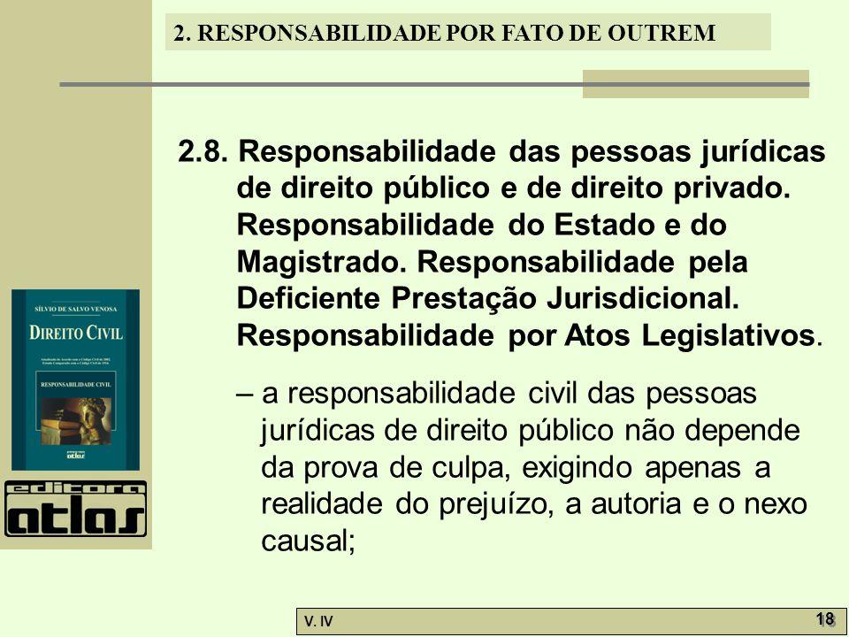 2.8. Responsabilidade das pessoas jurídicas de direito público e de direito privado.