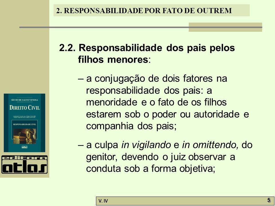 2.2. Responsabilidade dos pais pelos filhos menores: