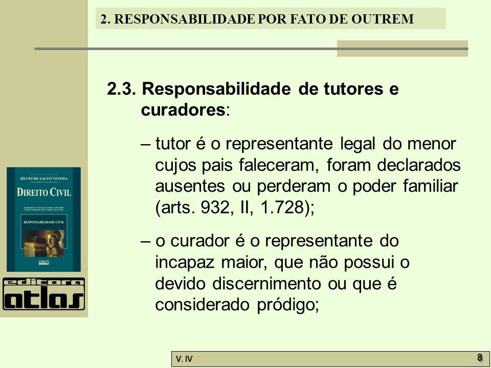 2.3. Responsabilidade de tutores e curadores: