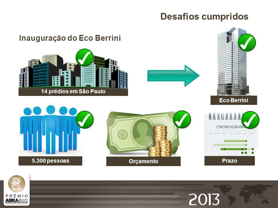 Desafios cumpridos Inauguração do Eco Berrini 14 prédios em São Paulo