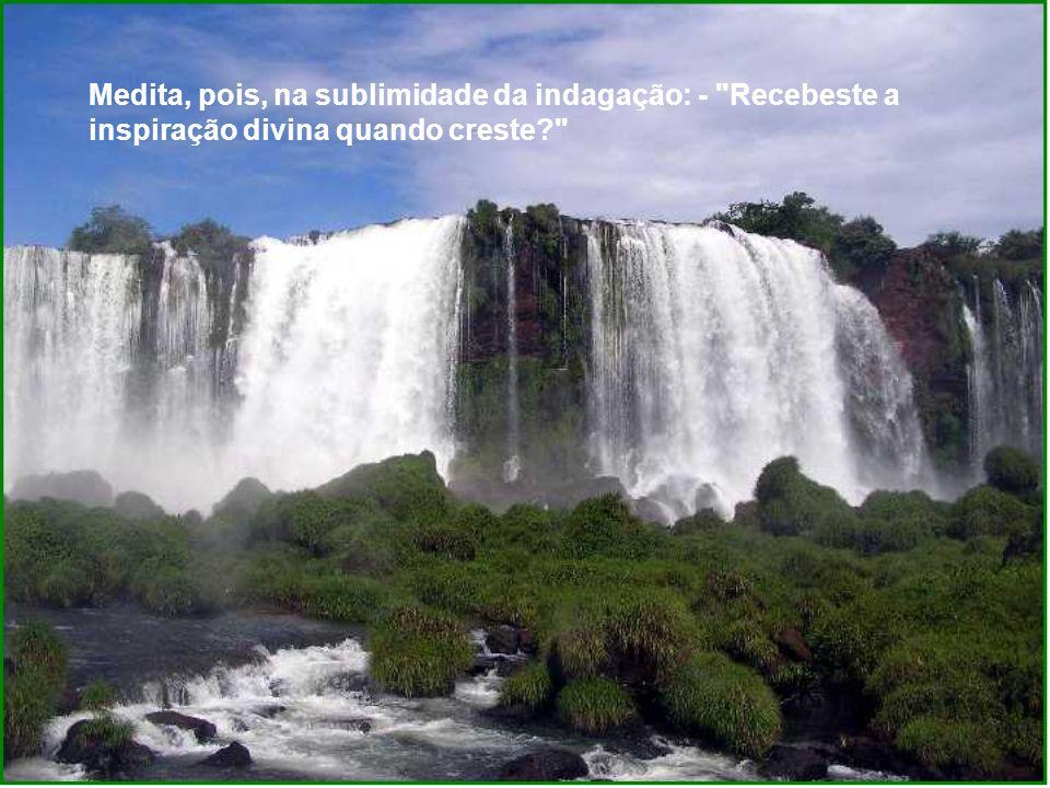 Medita, pois, na sublimidade da indagação: - Recebeste a inspiração divina quando creste