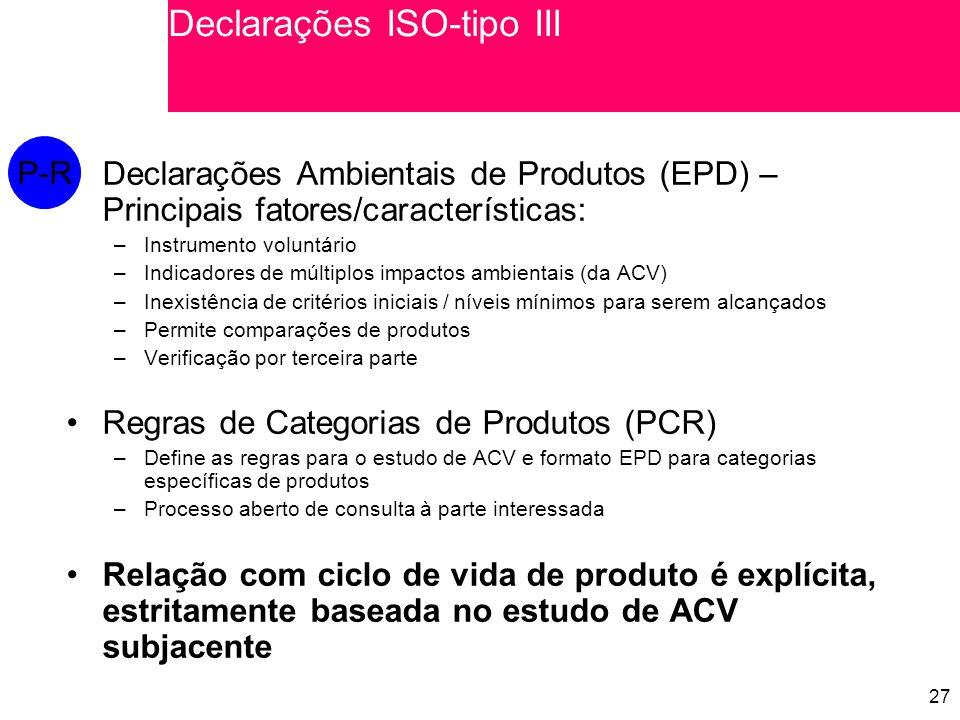 Declarações ISO-tipo III