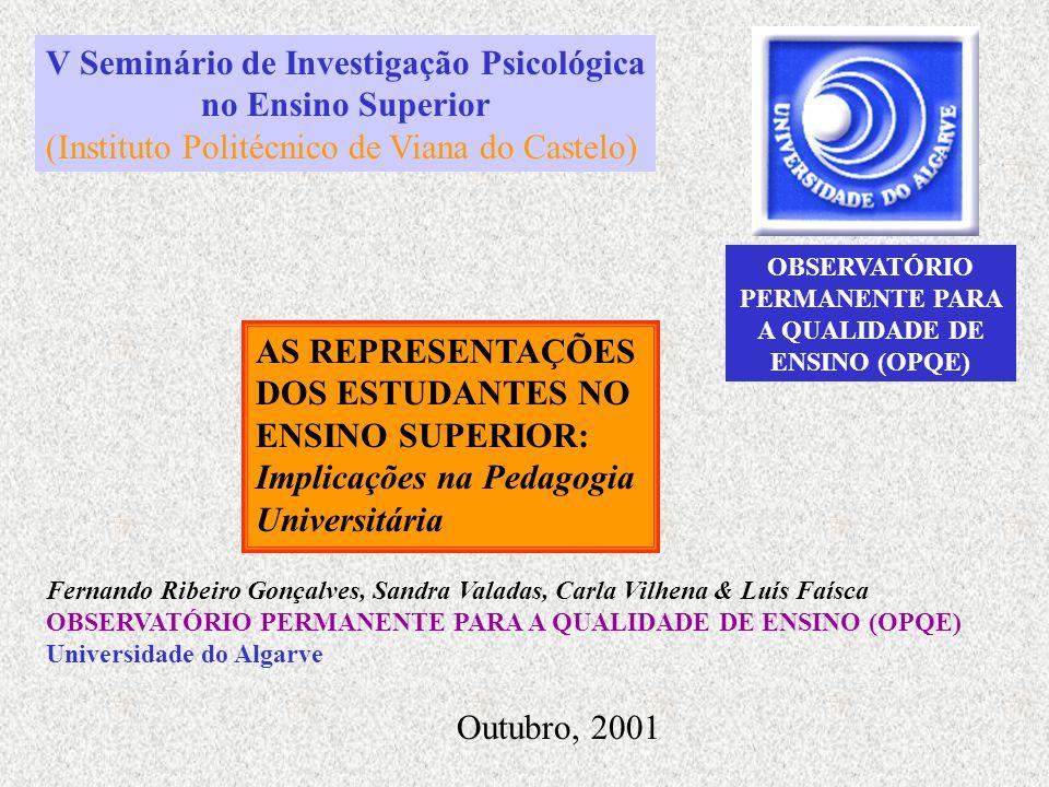 OBSERVATÓRIO PERMANENTE PARA A QUALIDADE DE ENSINO (OPQE)