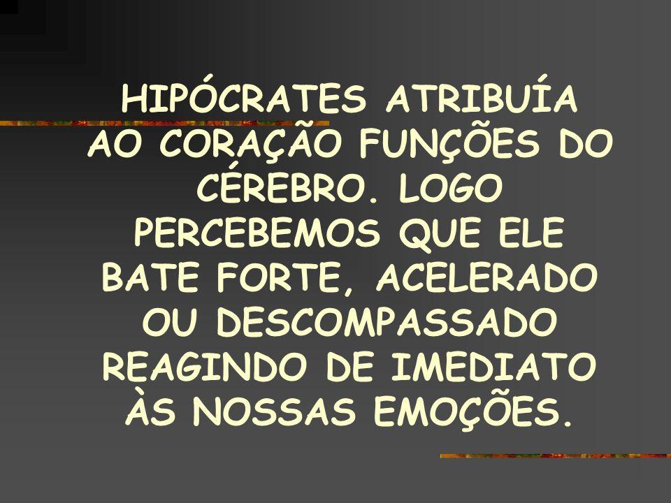 HIPÓCRATES ATRIBUÍA AO CORAÇÃO FUNÇÕES DO CÉREBRO