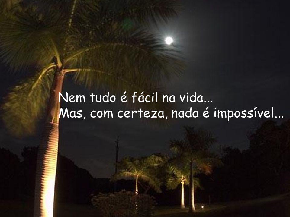 Nem tudo é fácil na vida... Mas, com certeza, nada é impossível...
