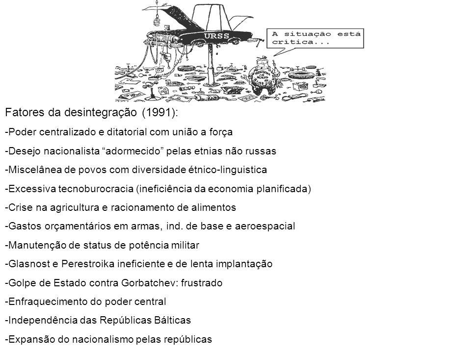 Fatores da desintegração (1991):
