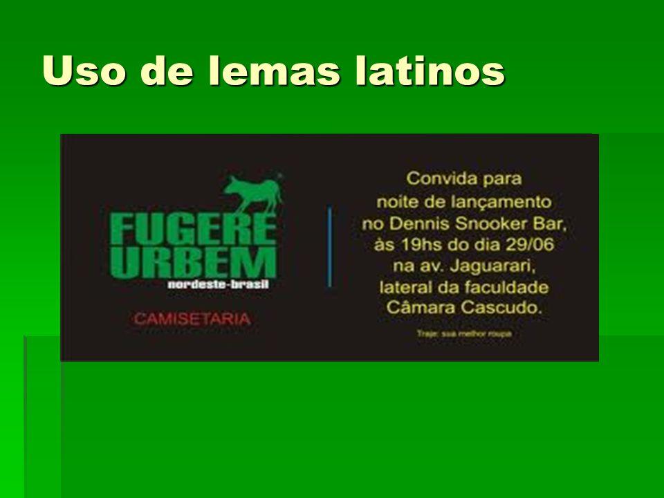 Uso de lemas latinos