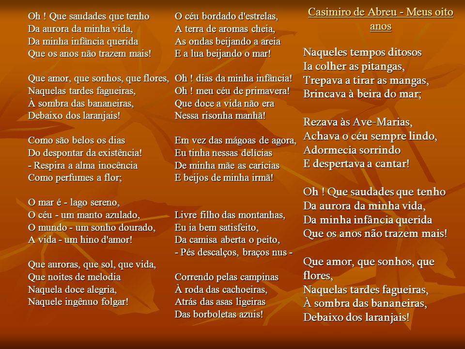 Casimiro de Abreu - Meus oito anos