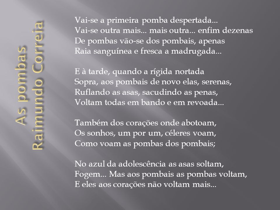 As pombas Raimundo Correia