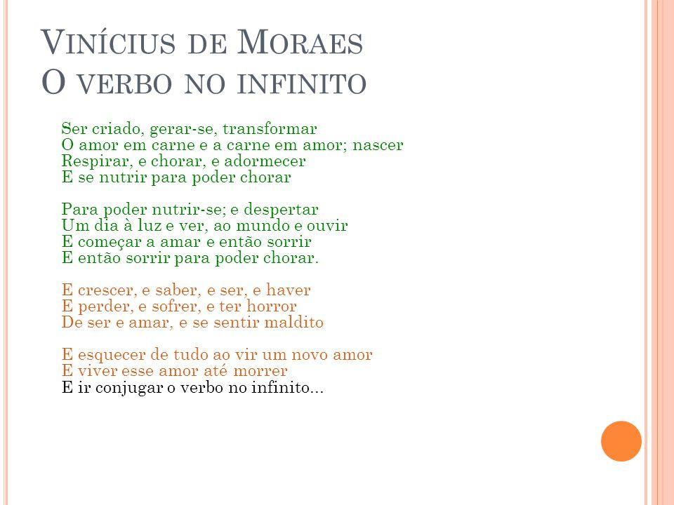 Vinícius de Moraes O verbo no infinito