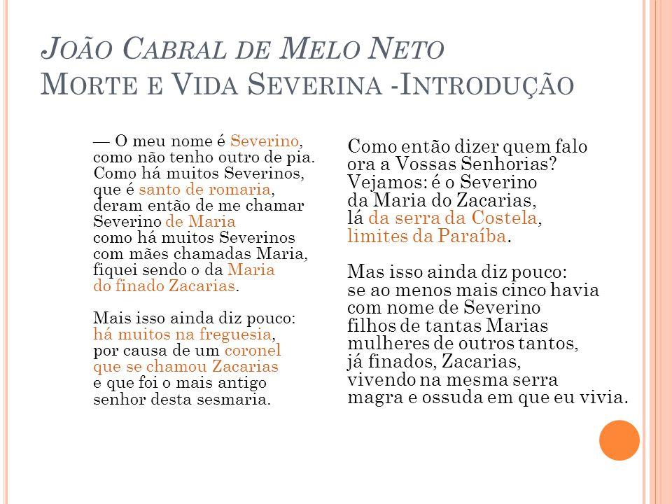 João Cabral de Melo Neto Morte e Vida Severina -Introdução