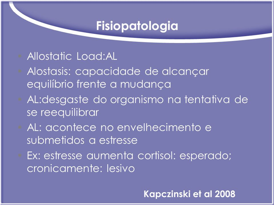 Fisiopatologia Allostatic Load:AL